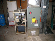 Old furnace replaced with new high efficiency unit