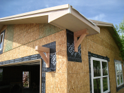 Corbels are installed over Ice&Water Shield for better moisture protection