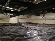New crawl space with insulated walls