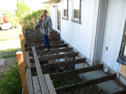 Cesar is removing old decking