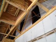Access openings between garage and main attic
