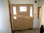 Front door is installed and blocked