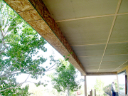 Beam soffits around deck beams