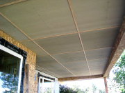 Soffit above deck is finished with Hardi Panels