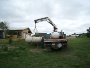 Propane tank is being replaced