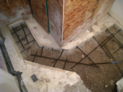 Rebars for basement floor repair