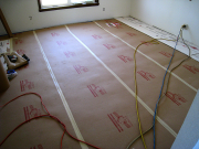 Hardwood floor is protected