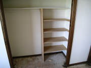 Extra shelves in bedroom #2 closet