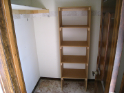 Extra shelves in master bedroom closet