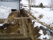 Footing construction for new garage