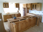 Kitchen cabinets - view from living room