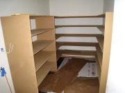 Pantry shelves in progress