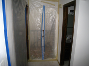 Zipper door is installed in hallway