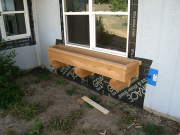 Planter box installed