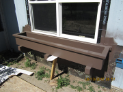 Planter box is painted