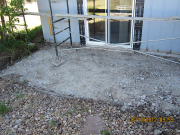 Old rear concrete patio is removed