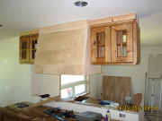 Kitchen range hood is framed