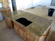 Kitchen granite is installed