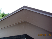 Detail of gable drip edge flashing