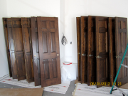 Old doors are refinished