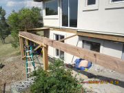 Posts & beams for new deck at master bedroom