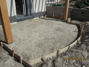 Rear patio is formed