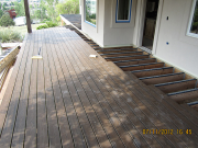 Trex decking is being installed