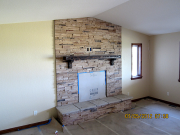 Fireplace stone is finished