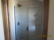 Plumbing in master shower is finished