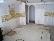 Tiles in kitchen removed