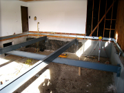 Steel beams for new garage floor