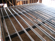 Steel joists for old garage floor