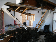 Demolition of kitchen ceiling and soffits