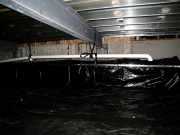 Radon system in new crawl space