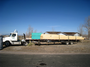 Roof trusses delivered