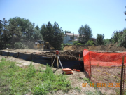 Partial dirt storage on site