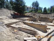 Garage footings in progress