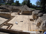 Partial basement footings