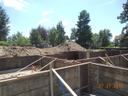 Foundation forming started at garage area