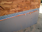 Sill plate installed over spray foam