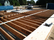 Joists installed - ready to be sheathed