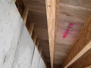 First joist always away from rim for insulation
