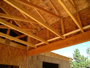 Rear deck trusses with 3 feet heel