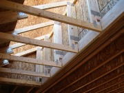 Small trusses sit on 2x8 ledger with no hangers