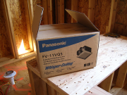 Bathroom fans are Panasonic and Energy Star Rated