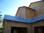Roof dry-in with extra strength underlayment