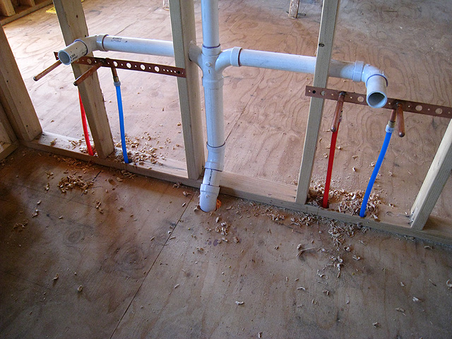Homes and sites available energy efficient builders for Using pex for drain lines