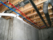 Pex water lines in basement