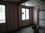 Garage is insulated to improve temperature control