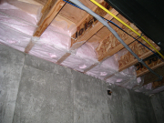 Rimboard in basement insulated